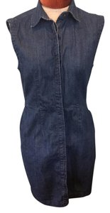 Levi's short dress Denim Summer Sleeveless Collar on Tradesy