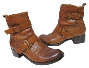 Lucky Brand Leather Buckles Brown Boots