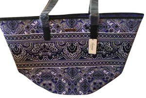 Soma Intimates Purple And Black Beach Bag