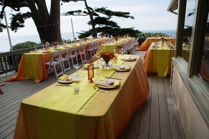 Yellow Orange Sunser Ombre 12 Satin and Runners Tablecloth
