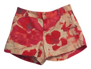 Ann Taylor LOFT Floral Shorts Red, Pink, Orange, White, etc