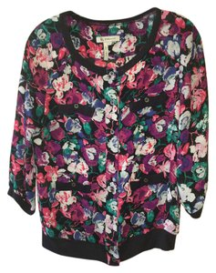 BCBGeneration 3/4 Sleeves Floral Sweater