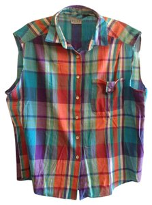Russ Hipster Hippie Festival 1990s Top Neon Plaid