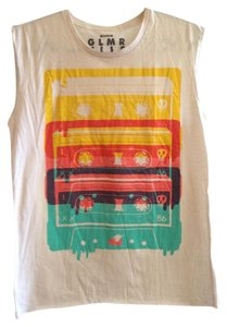 Glamour Kills Hipster 1980s 1990s Summer Top White