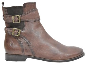 Frye Moto Motocycle Biker WHISKEY BROWN Boots