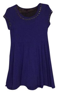 Material Girl short dress Purple/sheer black on Tradesy