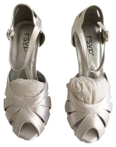 RSVP Bridal Dyeable Heels White Satin Formal