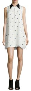 A.L.C. short dress White Georgette Silk Lips on Tradesy
