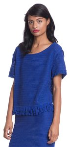 Tracy Reese Knit Lace Fringe Hem Sweater