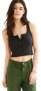 Urban Outfitters Cotton Crop Top Black