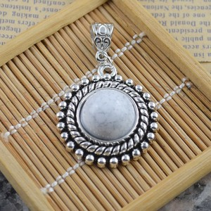 Bogo Free White Turquoise Pendant With Free Chain & Shipping