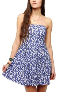 Urban Outfitters short dress Blue Strapless on Tradesy