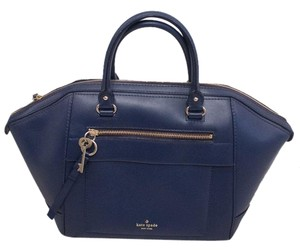 Kate Spade Leather Satchel in Navy Blue