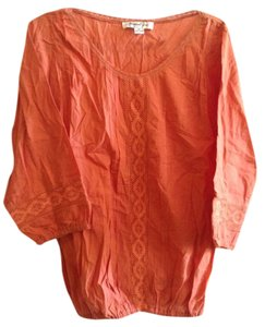 Jennifer & Grace Boho Bohemian Hippie Spring Top Melon Orange