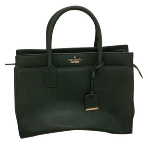Kate Spade Gold Hardware Satchel in Pine Green