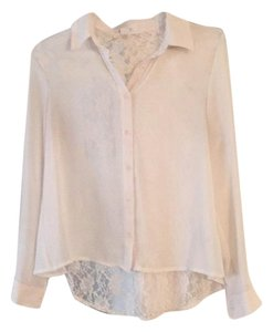 Forever 21 Button Down Shirt Ivory