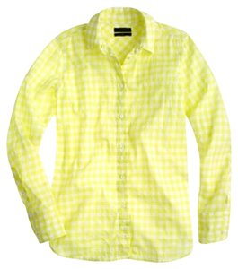 J.Crew Button Down Shirt Citron yellow