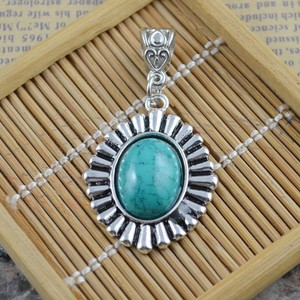 Sunbrust Turquoise Pendant Free Chain & Shipping