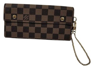 Louis Vuitton Louis Vuitton Accordeon Damier Ebene Canvas Clutch Chain Wallet