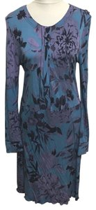 Tory Burch short dress Blue Floral on Tradesy