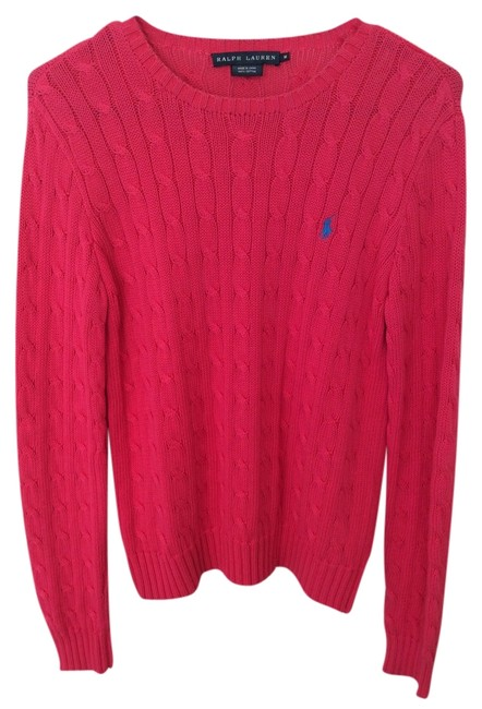 Polo Ralph Lauren Pink Knit Cable Knit Sweater