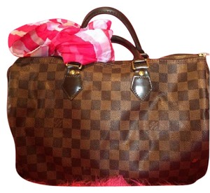 Louis Vuitton Speedy Louis Damier Canvas Damier Neverfull Satchel in ebene