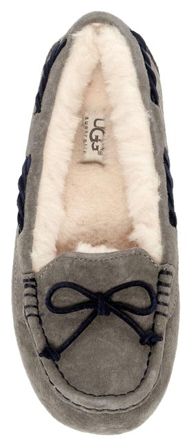 Item - Pewter Gray Tate Wool Lined Moccassin Loafer Slipper Flats Size US 6 Regular (M, B)
