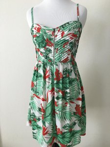 Roxy short dress Green/Red/White on Tradesy