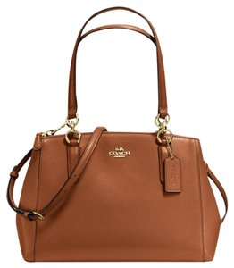 Coach Christie Crossbody Swingpack Signature Satchel in Saddle