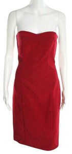 Maria Bianca Nero Sheath Pencil Strapless Solid Dress
