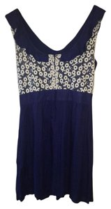 Tulle short dress NAVY Embroidered Floral Fall on Tradesy