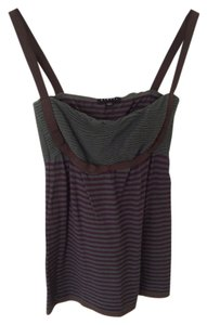 Sisley Striped Green Top Purple/Green