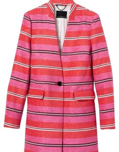 Banana Republic Pink-orange-blue stripes Blazer