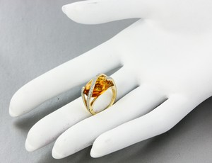 Citrine Gold and Diamond Ring David Yurman Design Inspired 14K Citrine Diamond Ring