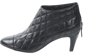 Chanel Quilted Lambskin Bootie Black Boots