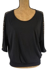 Rock & Republic Metallic Dolman Open Top Black