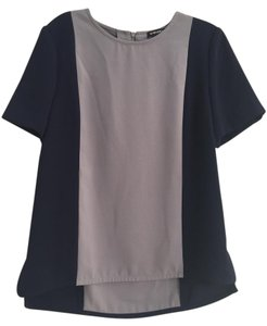 Whistles Top Grey/Navy