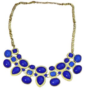 Blue Ornate necklace