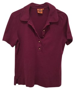 Tory Burch Polo T Shirt Dark fuschia