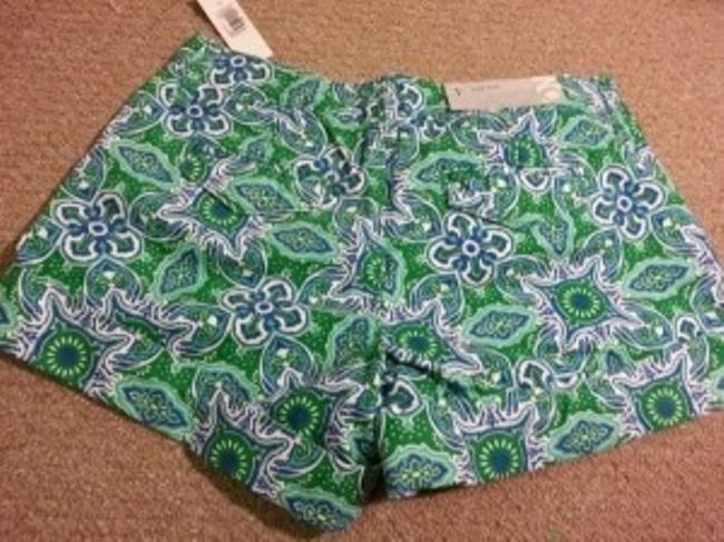 Old Navy Cuffed Shorts Green/Blue pattern