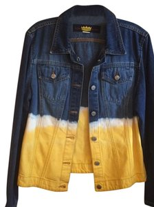 Todd Oldham Ombre Classic Denim canary/white/denim Womens Jean Jacket