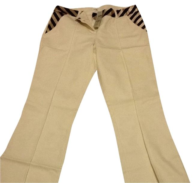 Cache White Casual Trouser Pants ivory