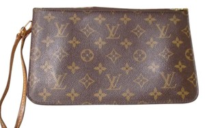 Louis Vuitton Neverfull Gm Mm Summer Pouchette Mimosa Yellow Muatard Clutch