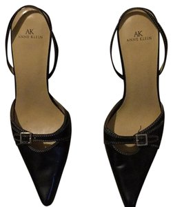 Anne Klein Black Leather Pumps