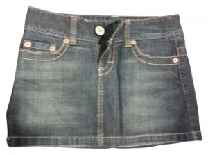 American Eagle Outfitters Mini Skirt Dark blue denim