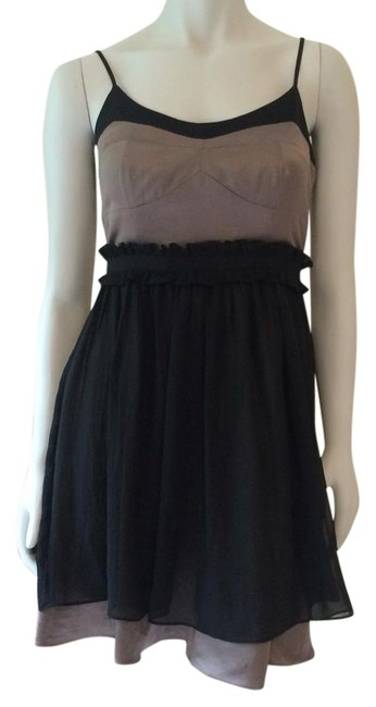 Preload https://img-static.tradesy.com/item/16604341/bcbgeneration-black-taupe-above-knee-night-out-dress-size-2-xs-0-1-650-650.jpg