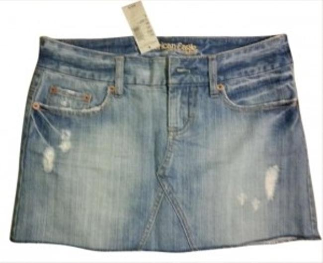 American Eagle Outfitters Mini Skirt Light Blue Denim