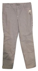 Old Navy Pinstriped Summer Chino Khaki/Chino Pants White