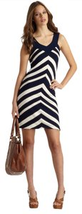 MILLY short dress Blue, White, Brown on Tradesy