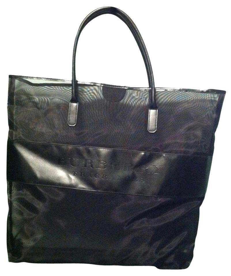 a2ec678d3c78 Burberry Large Shopper Black Mesh Tote - Tradesy